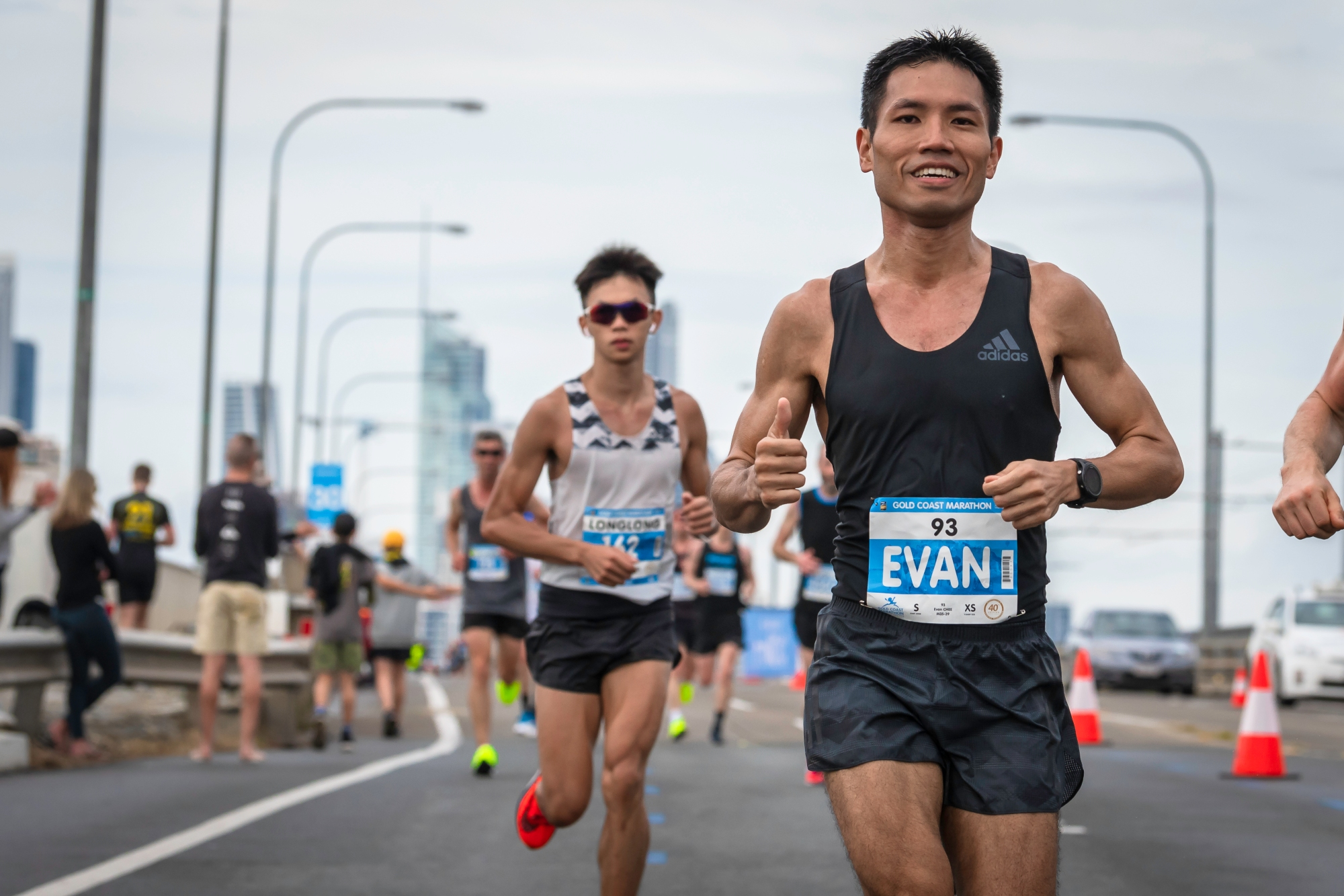 Evan during his Gold Coast Marathon in July 2018. Photo credits: ONEATHLETE / CHEW JEE KENG