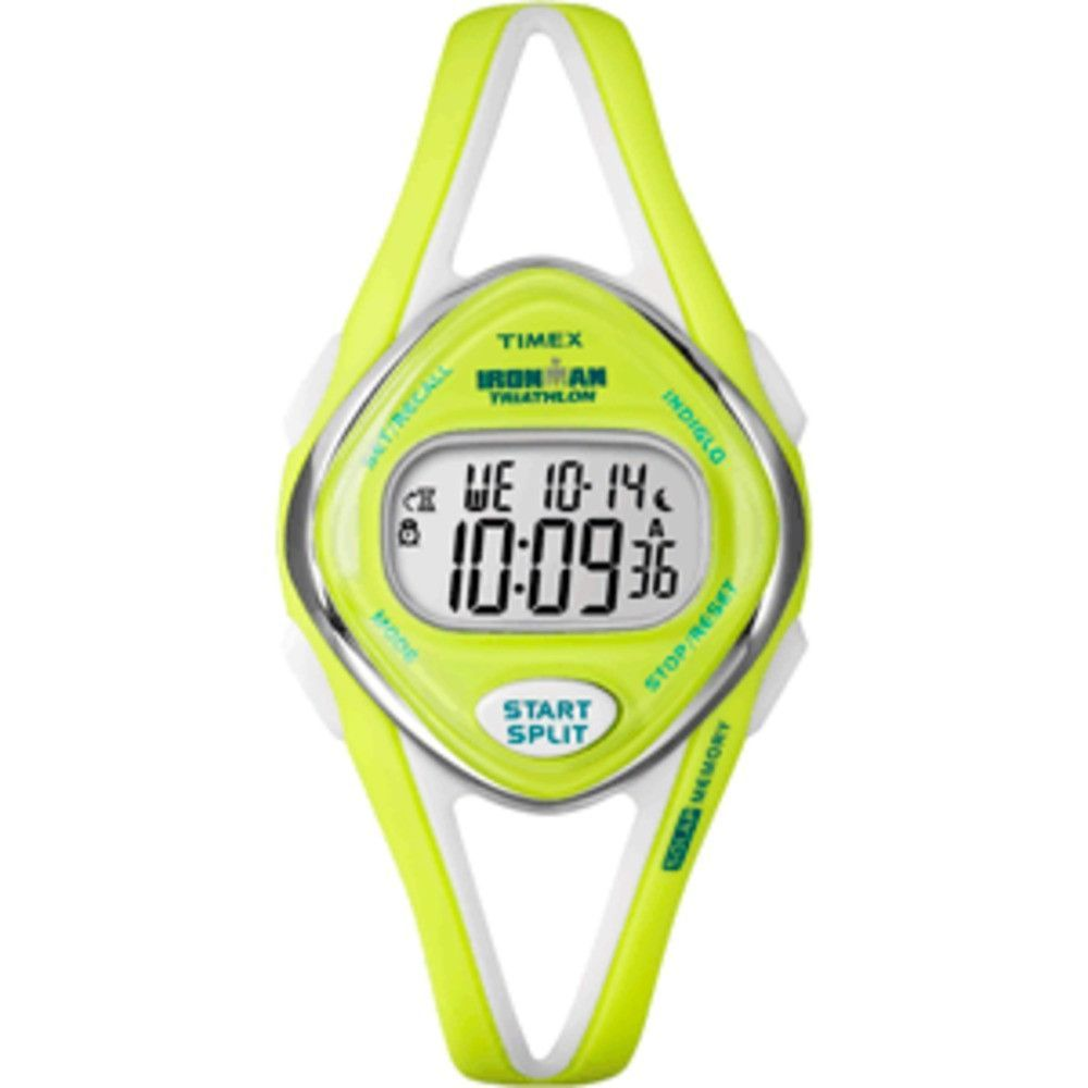 Bold Lime Timex Ironman Sleek 50 Lap Fitness Watch W/Night Light